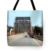 Industrial Bridge Over The Red River Tote Bag
