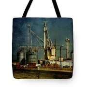 Industrial Farming In Texas Tote Bag