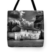 Industrial Landscape In Black And White 1 Tote Bag