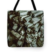 Industrial Letterpress Typeset  Tote Bag