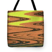 Industrial Sunset Abstract Tote Bag