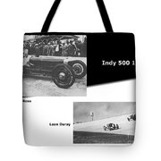 Indy 500 1928 Sam Ross And Leon Duray Tote Bag