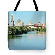 Indy White River View Tote Bag