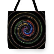 Infinite, Ever Expanding Image. Colorful And Classic Spiral Digital Art That Can Enhance Your Mood. Tote Bag