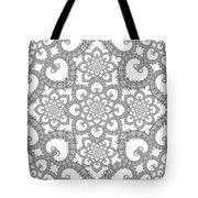 Infinite Lily In Black And White Tote Bag