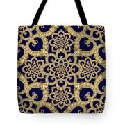 Infinite Lily In Navy Tote Bag