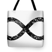 Infinity Symbol-black Tote Bag