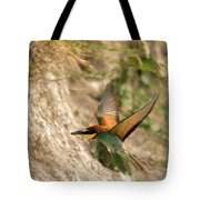 Inflight Feeding Bee Eater Tote Bag