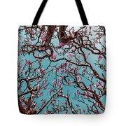 Infrared Frangipani Tree Tote Bag