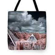 Infrared Glass Pyramids Panorama Tote Bag