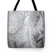 Infrared Palm Abstract Tote Bag