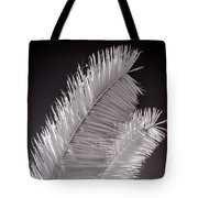 Infrared Palm Frond Tote Bag