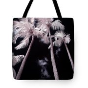 Infrared Palm Trees Tote Bag