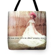 Infrared Quote Tote Bag