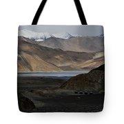 Initial Vision Of Pangong Lake Tote Bag