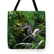 Injure Blue Heron Tote Bag