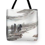 Ink And Wash Pine Tote Bag