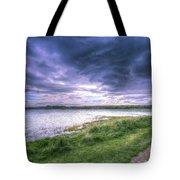 Ink Blue Skies Tote Bag
