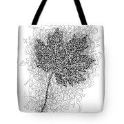 Ink Drawing Of Maple Leaf Tote Bag