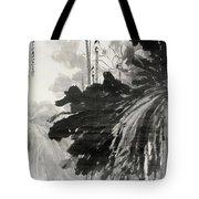 Ink Lotus Tote Bag