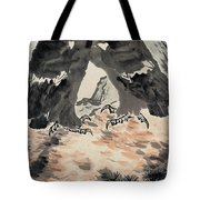 Ink Painting Eagle Tote Bag
