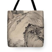 Ink Painting Landscape House Tote Bag