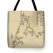Ink Painting Plum Blossom Tote Bag
