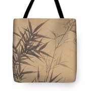 Ink Painting Stone Bamboo Tote Bag