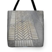 Inlayed Brick Walk Tote Bag