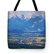 Inn River Valley And Kaiser Mountains View Tote Bag