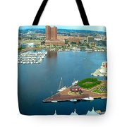 Inner Harbor Baltimore Panorama Tote Bag