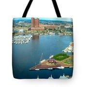 Inner Harbor Baltimore Panorama Tote Bag