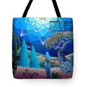 Inner Space-art On A Wall.  Tote Bag