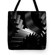 Inner Workings Black And White Tote Bag