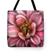 Insect - Bee - Center Of The Universe  Tote Bag