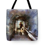 Inside An Ice Tunnel In Switzerland Tote Bag