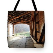 Inside Big Rocky Fork Bridge Tote Bag
