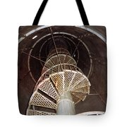 Inside Looking Up - Matagorda Island Lighthouse Tote Bag