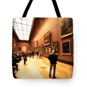 Inside Louvre Museum  Tote Bag by Charuhas Images