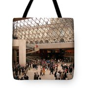 Inside Louvre Museum Pyramid Tote Bag by Mark Czerniec