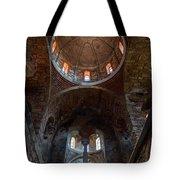 Inside Of Mystras Church Tote Bag