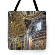 Inside St Peter's Basilica Rome Tote Bag