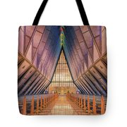 Inside The Cadet Chapel Tote Bag