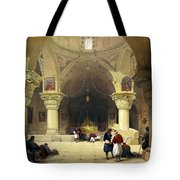 Inside The Church Of The Holy Sepulchre In Jerusalem Tote Bag