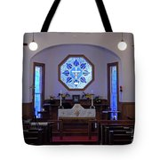 Inside The Church Of The Mediator Tote Bag
