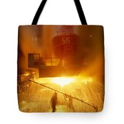 Inside The East-slovakian Steel Mill Tote Bag
