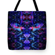Inside The Electric Temple After Nightfall Tote Bag