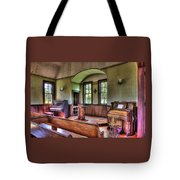 Inside The Oysterville Church  Tote Bag