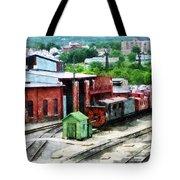 Inside The Train Yard Tote Bag