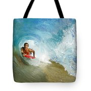 Inside Wave Tube Tote Bag